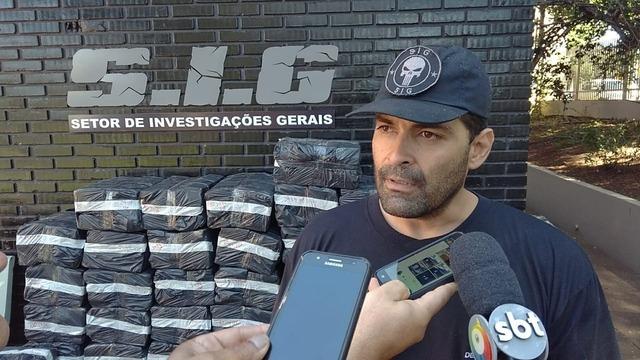 Delegado do SIG, Rodolfo Daltro durante entrevista ontem ao Dourados Agora. Fotos: Cido Costa -