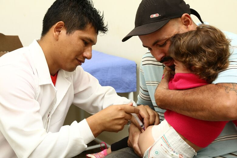 Vacinação para crianças ainda tem baixa procura em relação as demais - Crédito: A. Frota