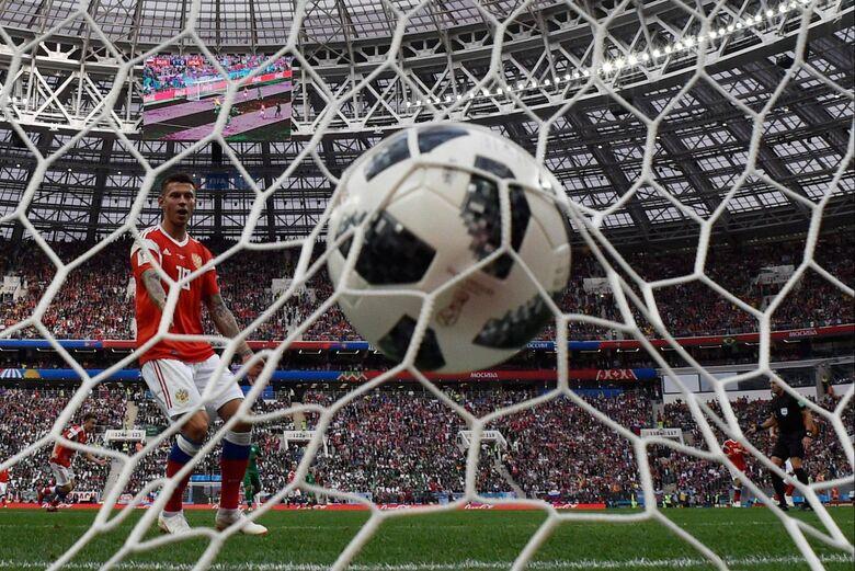 Segundo gol da Rússia por Denis Cheryshev - Crédito: que não está na imagem