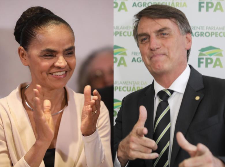 Bolsonaro e Marina têm empate técnico em cenário sem Lula, diz CNI/Ibope -