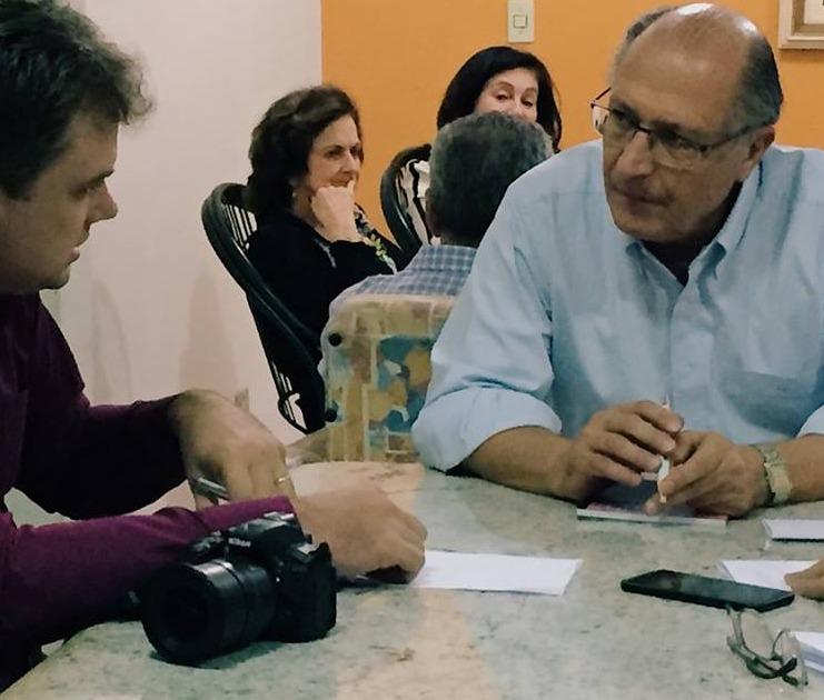 Geraldo Alckmin visitou O Progresso esta tarde - Crédito: Wilson Duarte
