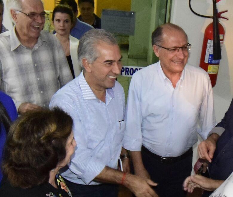 Alckmin e Reinaldo no jornal O Progresso - Crédito: Luiz Radai