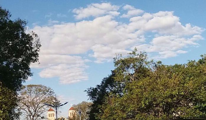 Poucas nuvens e ar seco para os próximos dias - Crédito: Divulgação