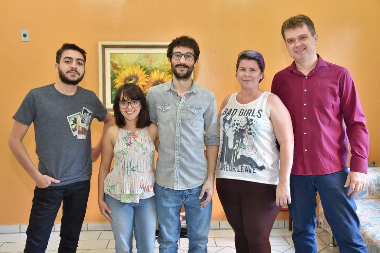 Equipe O Progresso Digital: Wilson Duarte, Louise Torres, Pedro Rocha, Ana Ostapenko e Luiz Radai Foto: Marcos Ribeiro -