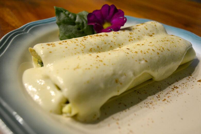 Canelone de jacará com espinafre foi o vencedor da Mostra Gastronôica - Crédito: Divulgação