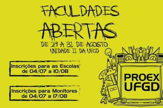 UFGD promove Faculdades Abertas em agosto -
