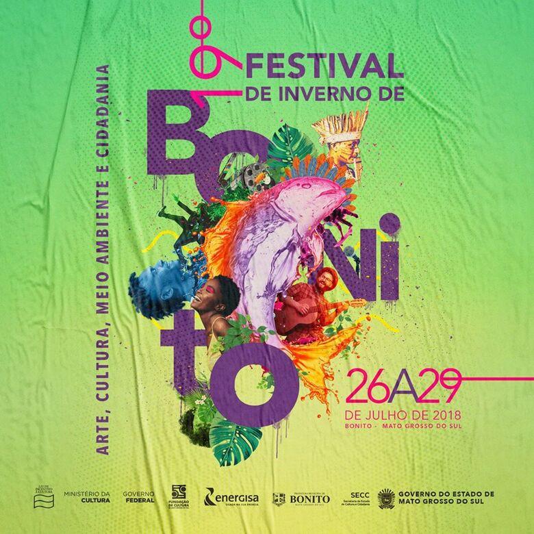 Festival de Inverno de Bonito tem programação divulgada e teatro e literatura douradense marcarão presença -