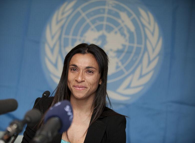 Jogadora Marta é nomeada embaixadora da ONU Mulheres - Crédito: PNUD