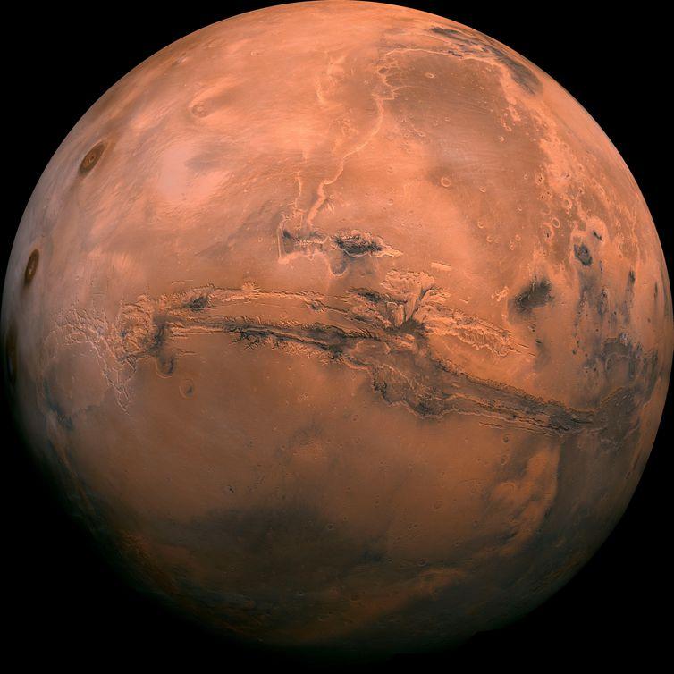 Cientistas encontram água líquida em Marte - Crédito: EFE/EPA/USGS