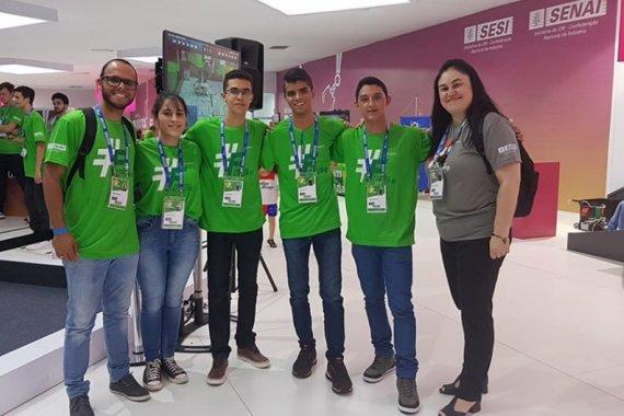 Equipe de Dourados que foi destaque na competição - Crédito: Divulgação