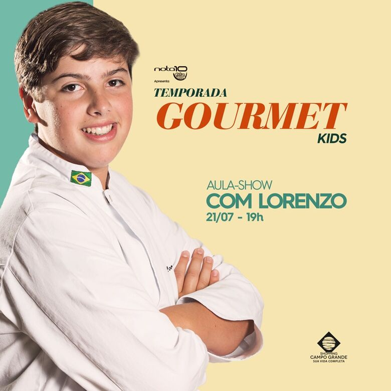 Campo Grande recebe aula-show com MasterChef Júnior Lorenzo Ravioli -