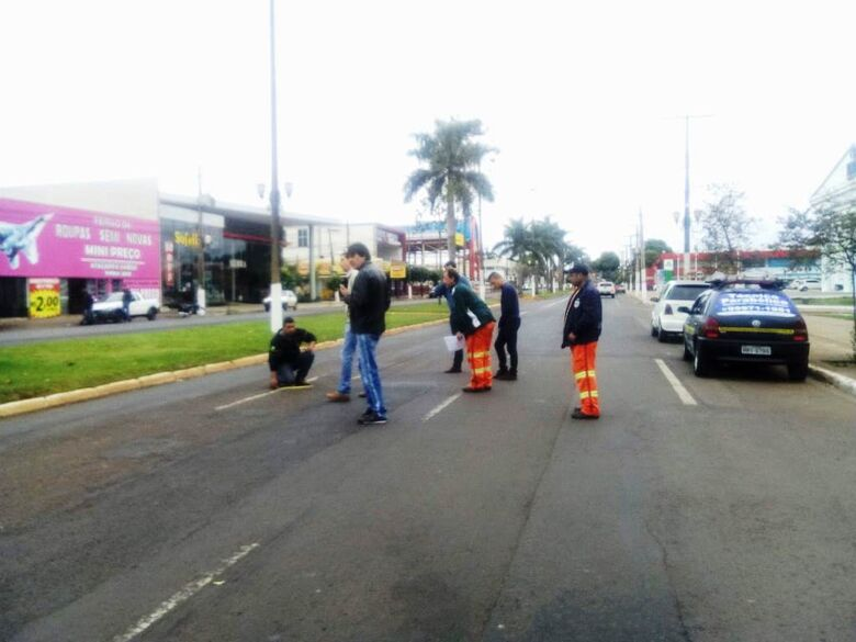 Agetran acompanha processo de sinalização das vias recuperadas no centro de Dourados - Crédito: Agetran
