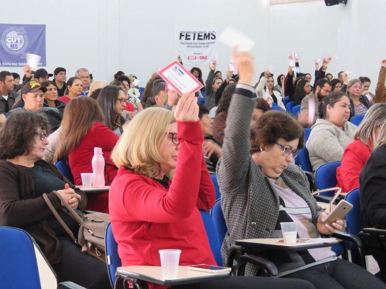 Greve na Rede Municipal continua com 34% do efetivo - Crédito: SIMTED Dourados