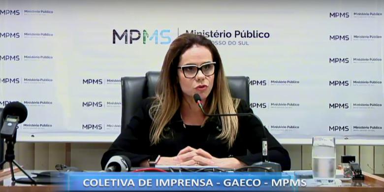 Promotora Cristiane Mourão relata sobre a operação - Crédito: Reprodução Youtube