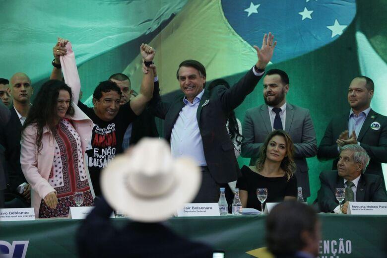 Sem Lula, Bolsonaro lidera disputa presidencial - Crédito: Fernando Frazão/Agência Brasil