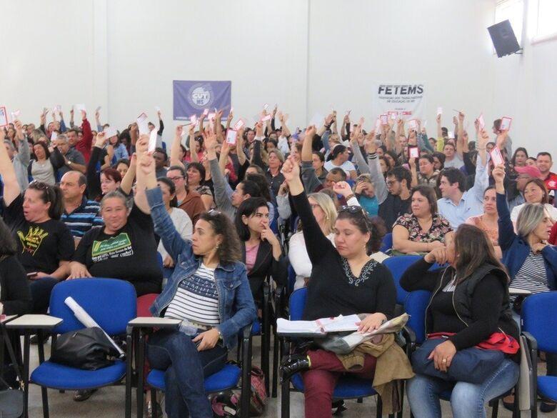 Greve dos professores foi aprovada em assembleia na terça-feira. - Crédito: SIMTED