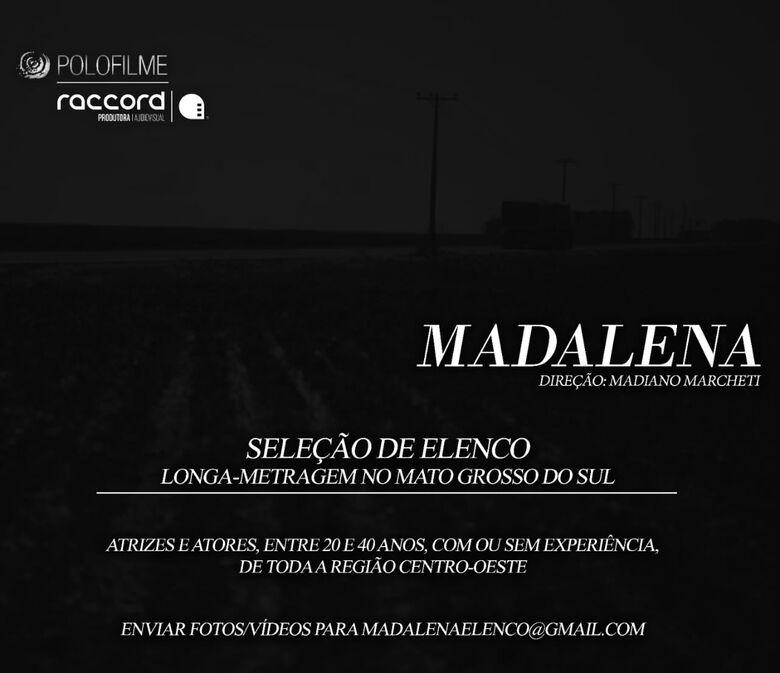 """Filme """"Madalena"""" terá cenas rodadas em Dourados e procura atores -"""