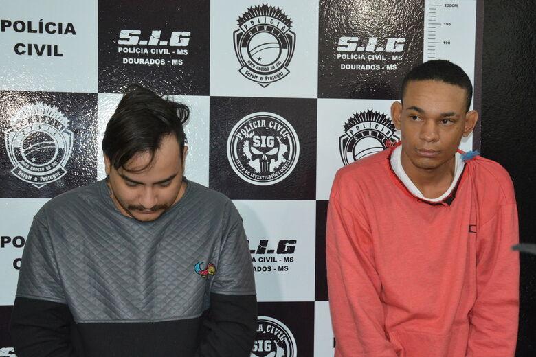 Polícia apresenta autores de 3 homicídios em Dourados - Crédito: Hedio Fazan