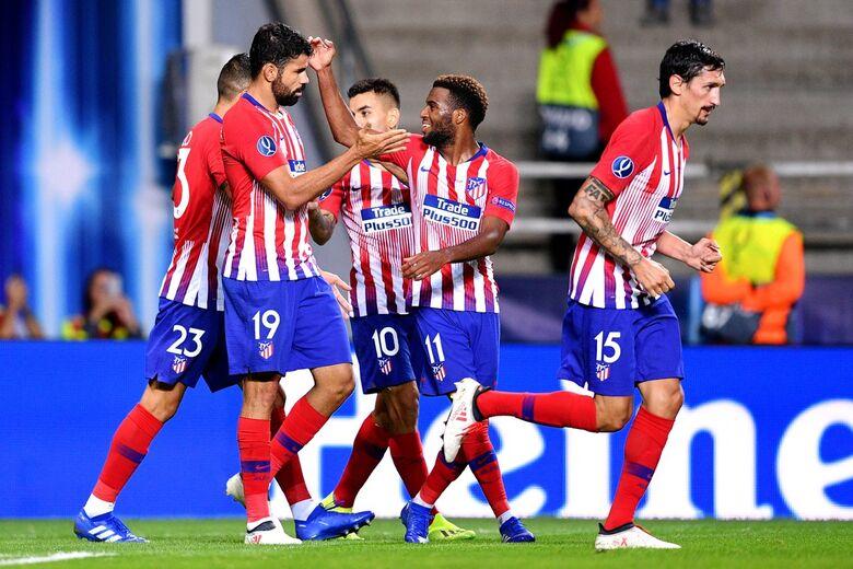 Que faaase do Diego Costa. Segurou a bronca e ajudou o Atlético a quebrar um baita tabu - Crédito: Divulgação/Uefa