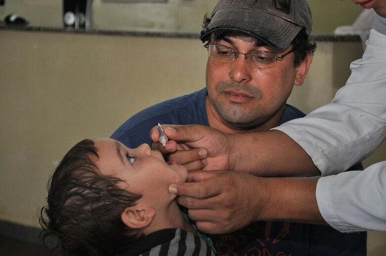 """Dia """"D"""" contará com 46 pontos de vacinação contra pólio e sarampo - Crédito: A. Frota"""