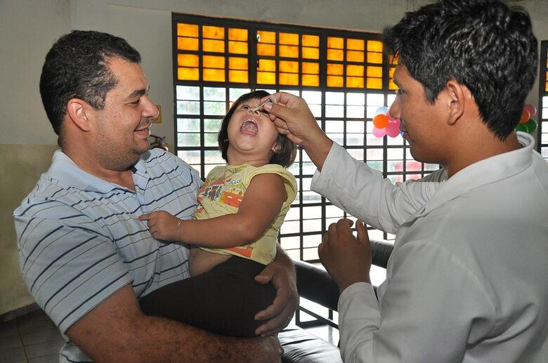 Vacinação contra a polio e o sarampo já acontece nos postos durante a semana, o Dia D será em 18 de agosto - Crédito: Divulgação