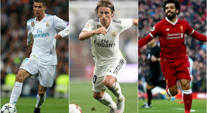 CR7, Salah e Modric são os finalistas do prêmio de Melhor do Mundo -