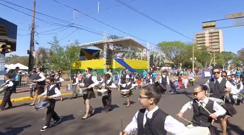 Organizações civis abrilhantaram o evento após o desfile dos militares - Crédito: Divulgação