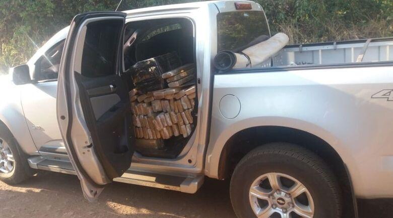 Camioneta apreendida com droga - Crédito: Divulgação/PRF