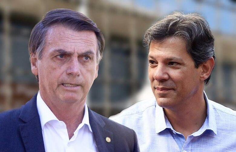 Segundo o Datafolha, Bolsonaro tem 58% e, Haddad, 42% dos votos válidos - Crédito: Divulgação