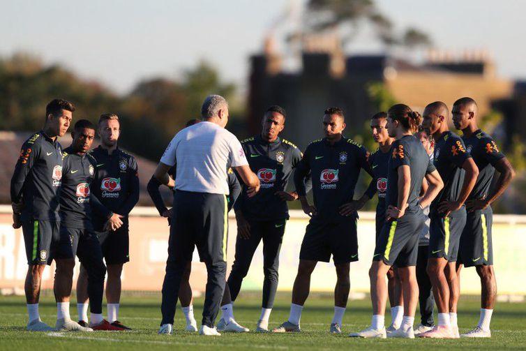 Seleção Brasileira treina em Londres para jogo contra a Arábia Saudita - Crédito: Lucas Figueiredo - CBF