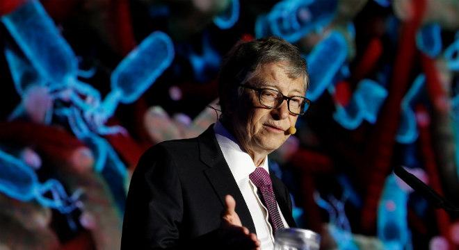 Bill Gates apresenta vaso sanitário futurista em viagem à China - Crédito: REUTERS/Thomas Peter