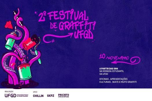 II Festival de Graffiti acontece neste sábado na Moradia Estudantil - Crédito: Divulgação