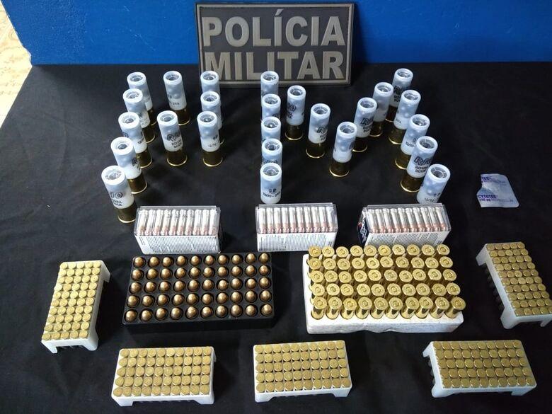 PM de Caarapó apreende homem por tráfico de munições - Crédito: Divulgação/PMMS