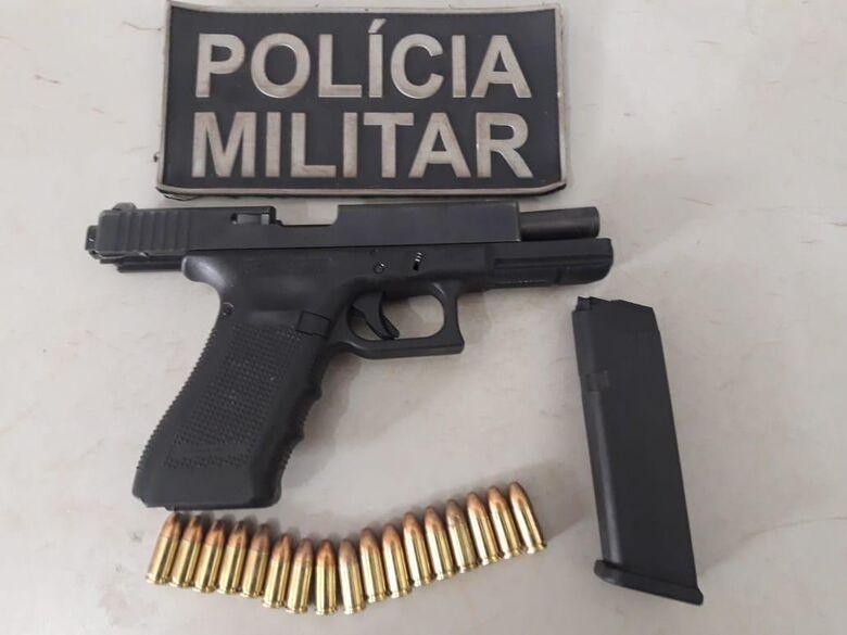 Rádio Patrulha do 3º BPM apreende pistola com foragido em Dourados - Crédito: Divulgação/PMMS