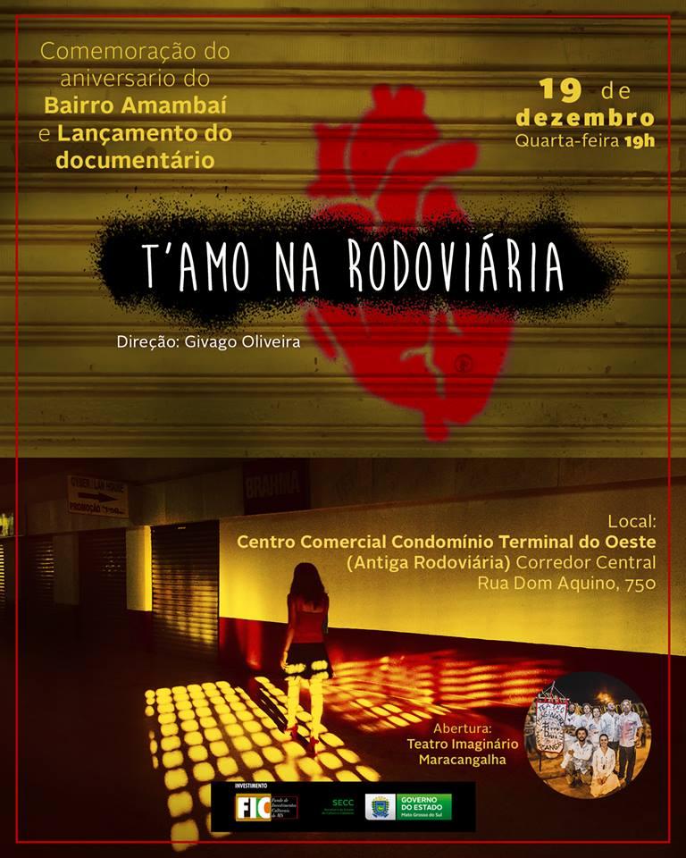 Documentário T´Amo na Rodoviária será lançado dia 19 de dezembro - Crédito: Divulgação