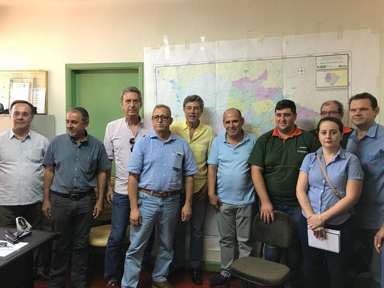 Reunião entre empresários do Distrito Industrial, diretoria da Aced e vice-governador - Crédito: Assessoria Aced