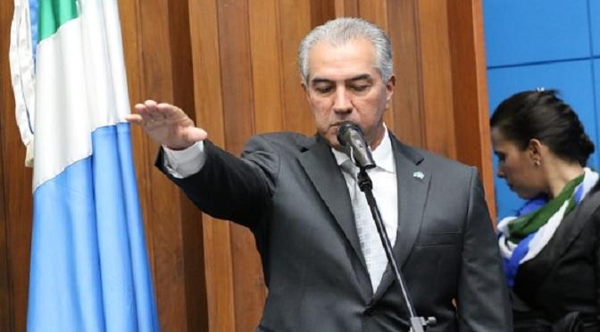 Empossado para o segundo mandato, Reinaldo Azambuja aposta em alinhamento com Governo Federal - Crédito: Chico Ribeiro