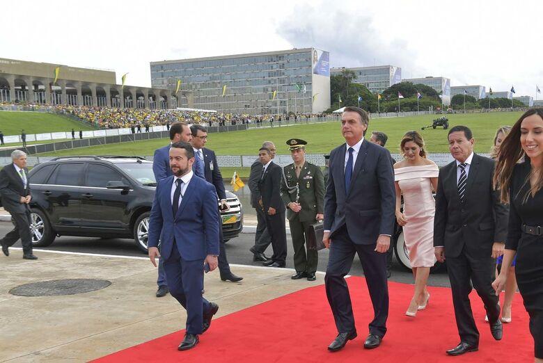 Bolsonaro toma posse como presidente para mandato até 2022 - Crédito: Marcos Brandão/Agência Senado