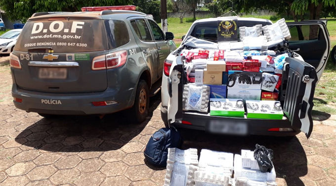 Produtos estavam na carroceria da pick-up - Crédito: Divulgação/DOF