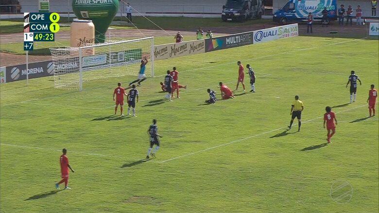 Gol marcado por Jorginho, aos 49 minutos do primeiro tempo - Crédito: Reprodução/TV Morena