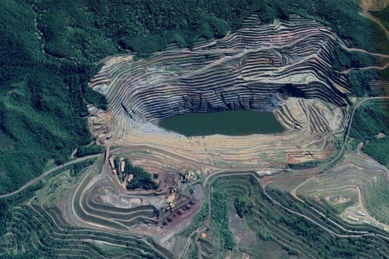 Barragem que alertou os moradores da região nesta sexta-feira - Crédito: Google Maps
