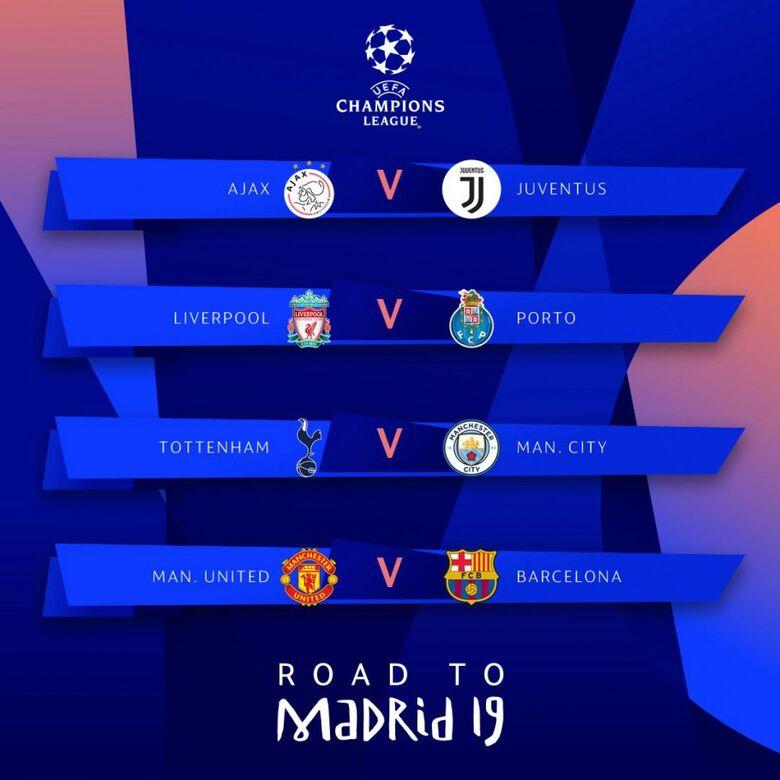 UEFA sorteou os jogos da próxima fase da competição nesta sexta-feira (15) - Crédito: Divulgação/UEFA