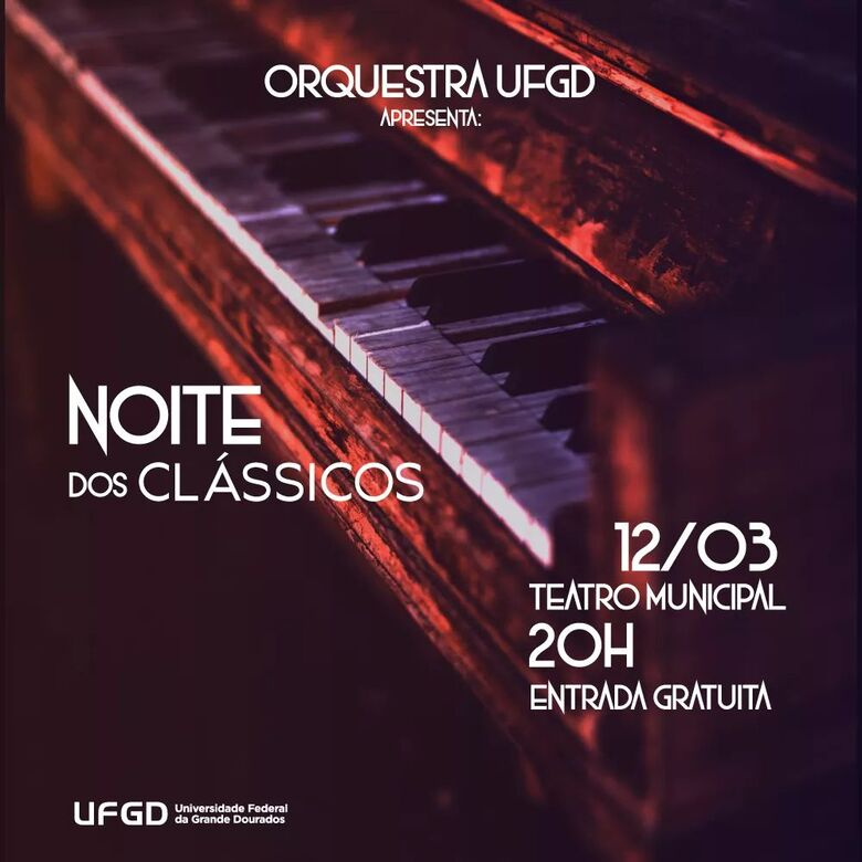 Concerto desta terça-feira abre a temporada 2019 da orquestra - Crédito: Divulgação/UFGD