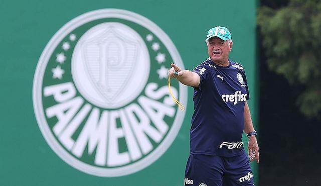 Felipão tenta vencer o primeiro clássico neste Paulistão - Crédito: Agência Palmeiras
