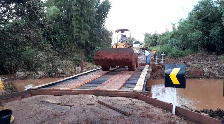 Ponte sobre o Córrego Sardinha liga Itaporã a Maracaju e atende a produção agropécuária - Crédito: Prefeitura de Itaporã