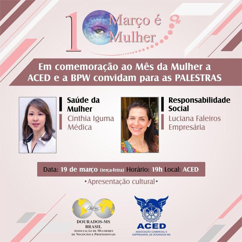 Médica conscientiza sobre casos de câncer em mulheres hoje na ACED - Crédito: divulgação