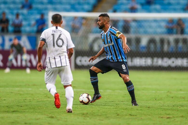 Grêmio vem embalado após o título do estadual sobre o rival Inter - Crédito: Lucas Uebel