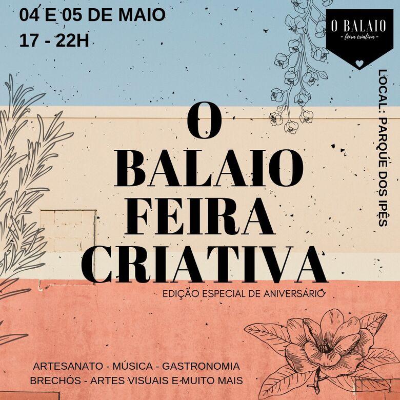 O Balaio – Feira Criativa acontece dias 4 e 5 de Maio - Crédito: Divulgação