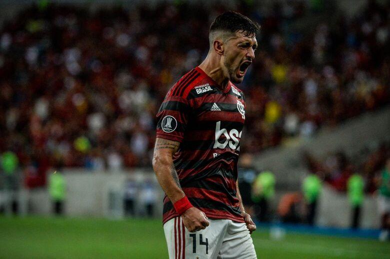 Arrascaeta é uma das armas do poderoso ataque rubro-negro na Libertadores - Crédito: Alexandre Vidal/Flamengo