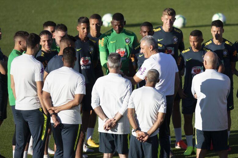Primeiro treino da Seleção na Granja Comary na fase preparatória para a Copa América - Crédito: Lucas Figueiredo/CBF